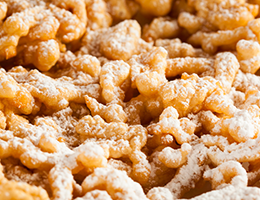 Pumpkin Spice Funnel Cakes with #5100 Pennsylvania Dutch Funnel Cake Mix
