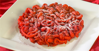 Red Velvet Funnel Cakes