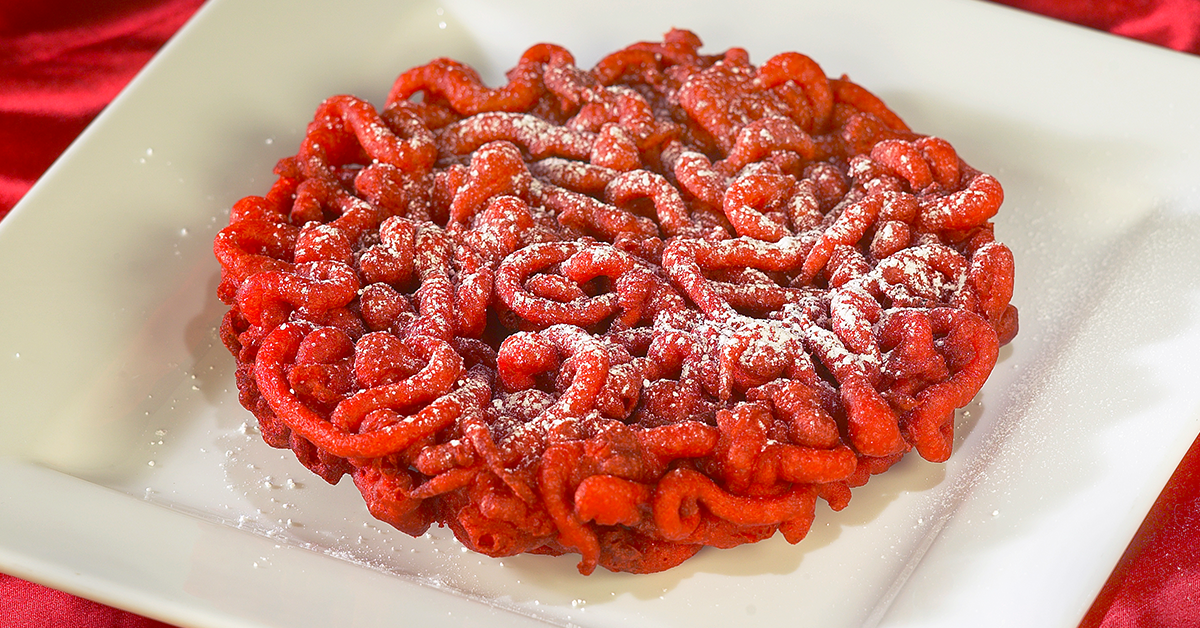 Red Velvet Funnel Cakes Recipe