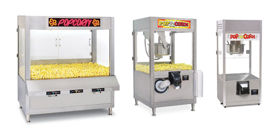 Contactless Commercial Popcorn Machines from Gold Medal