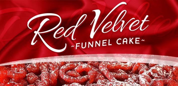 Red Velvet Funnel Cake Recipe
