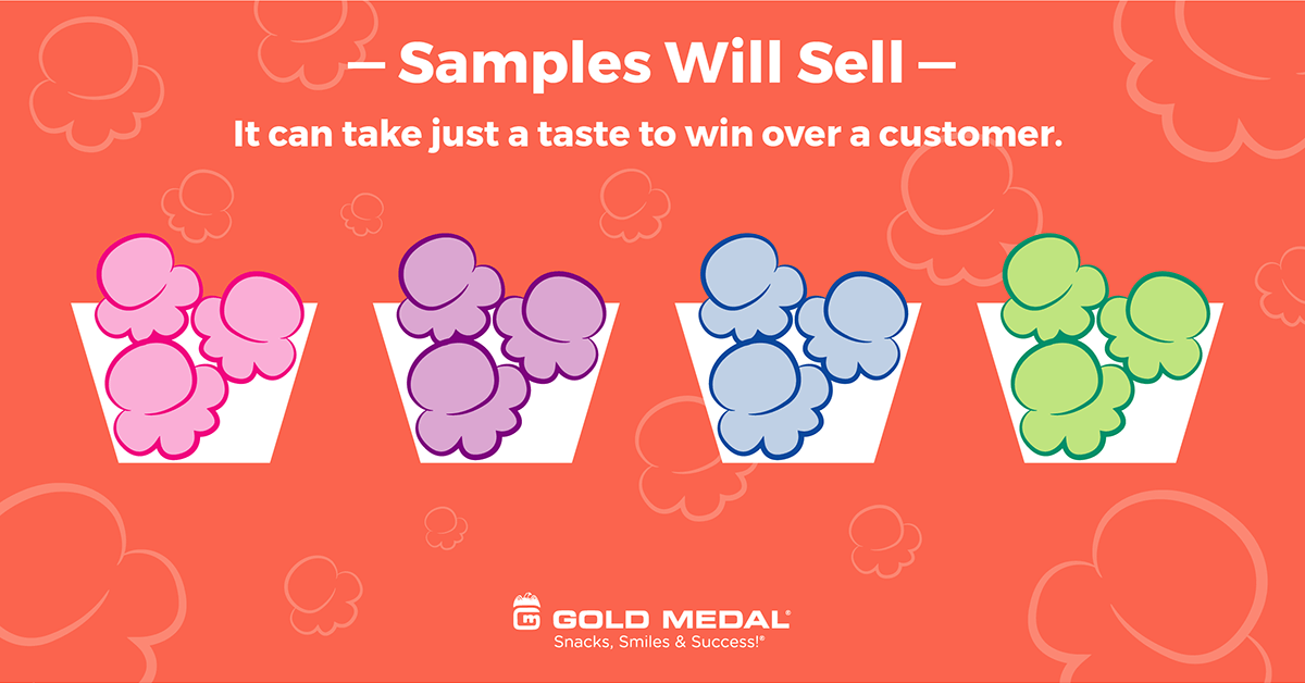 2 – Samples Will Help Sell.