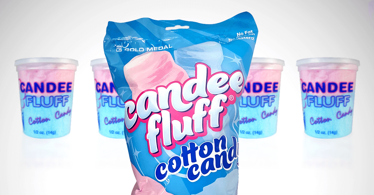 Cotton candy containers and bags