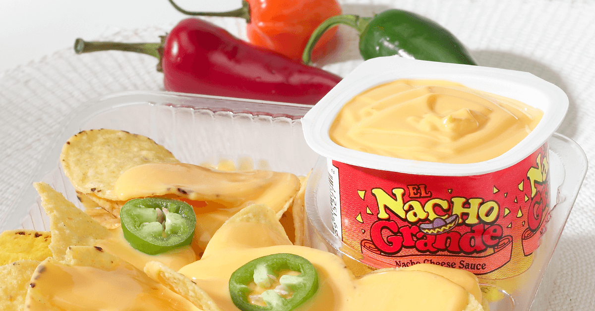 Prepackaged cheese cups and nacho chips