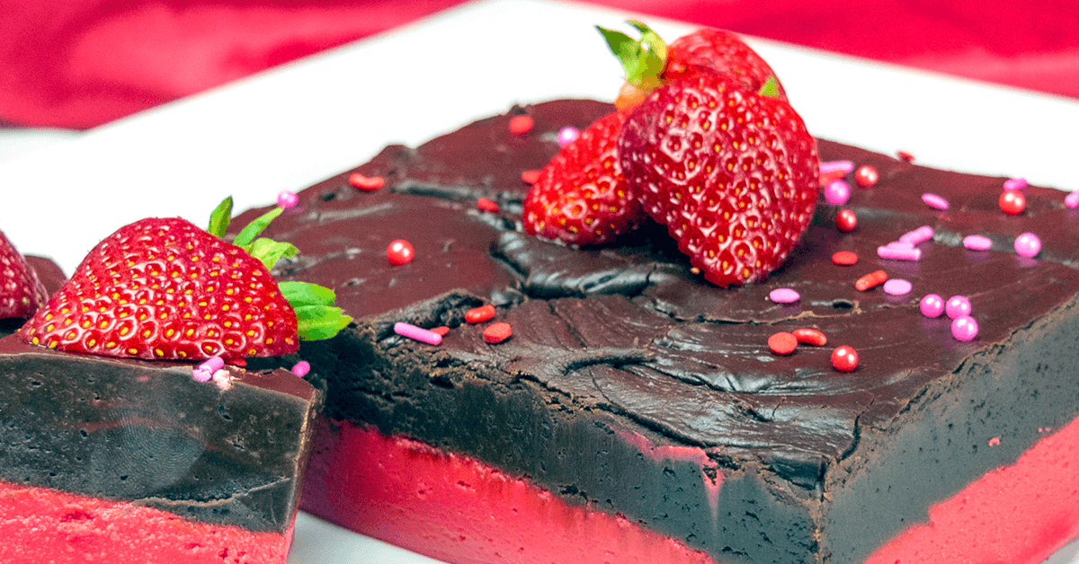 Chocolate-Covered Strawberry Fudge Recipe