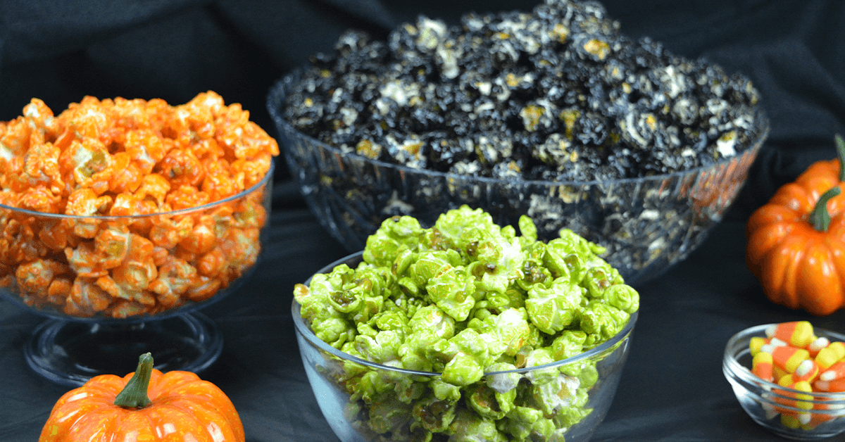 Colorful Halloween Popcorn