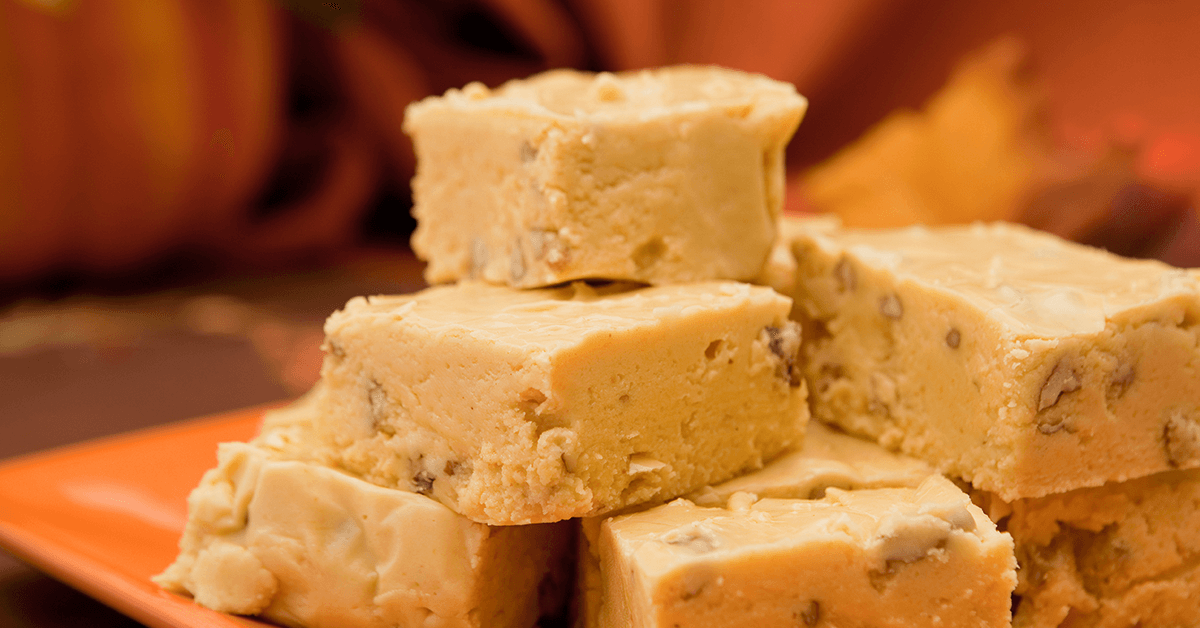 Praline Pumpkin Spice Fudge