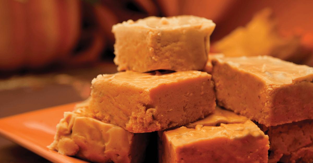 Praline Pumpkin Spice Fudge