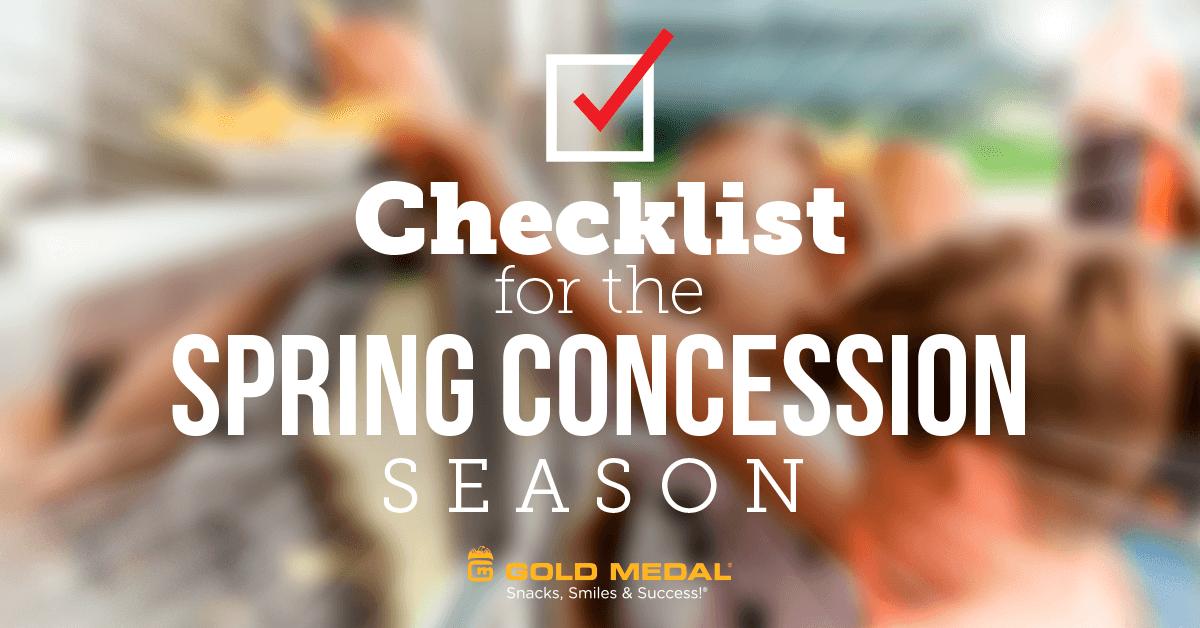 Spring Concession Checklist