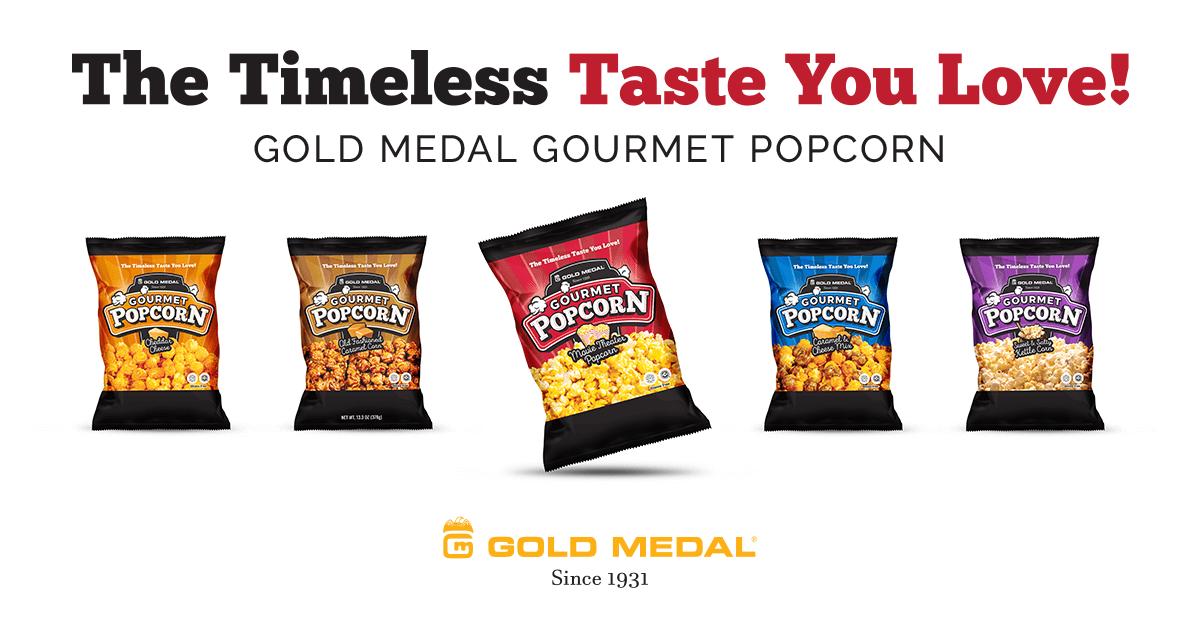 Gold Medal's Gourmet Popcorn Line