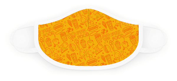 Orange and Yellow Fun Foods Face Covering (Item #6666)