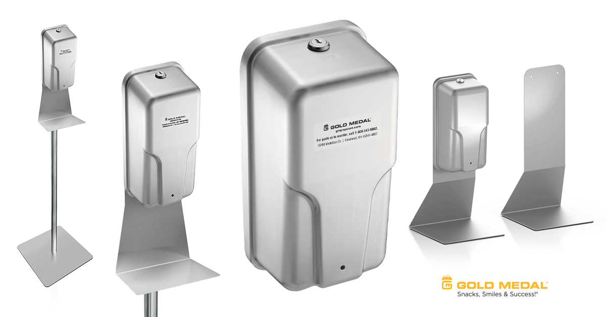 Automatic Hand Sanitizer & Soap Dispensers Now Available from Gold Medal
