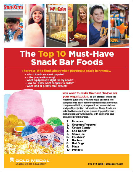 The Top 10 Must-Have Snack Bar Foods