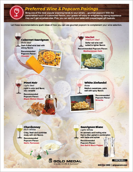 Preferred Wine & Popcorn Pairings