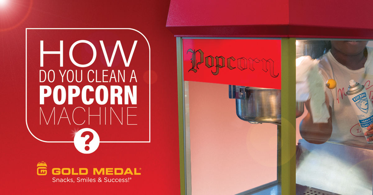 How Do You Clean a Popcorn Machine?